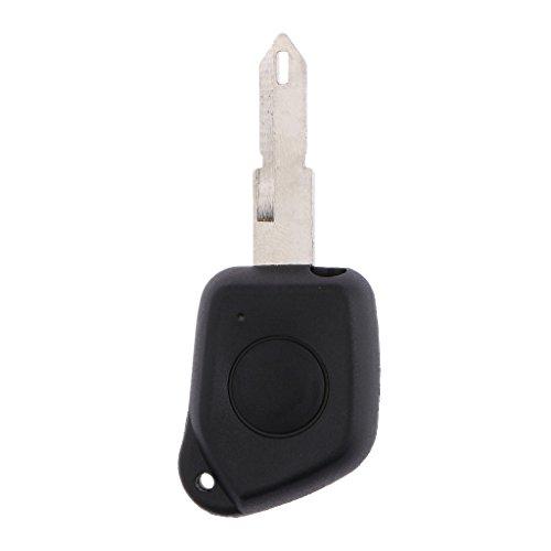 Télécommande 1 Bouton Porte-clefs Avec Lame Remplacement Pour Peugeot 205 206 306 106 405 406
