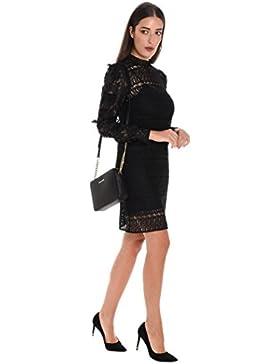 Michael Kors Damen MF78XCF79R001 Schwarz Polyester Kleid