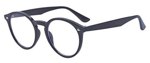 Outray Vintage Runde nicht verschreibungspflichtige klare Gläser, optische Brillenfassung für Damen und Herren Gr. 85, Schwarz