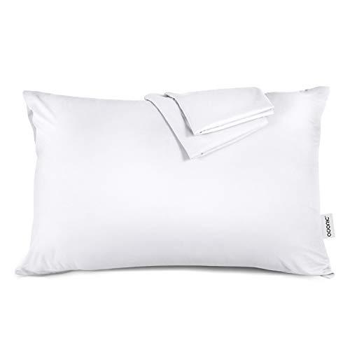 ADORIC Taie d'oreiller 50x70cm [Lot de 2] Taies d'Oreillers en 100% Coton Super Doux Confortable 50cmx70cm (Blanc)