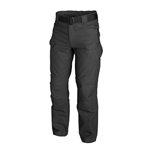 Army Military Pants (Helikon-Tex URBAN Tactical Pants -Polycotton Ripstop, Schwarz, XL/Regular)