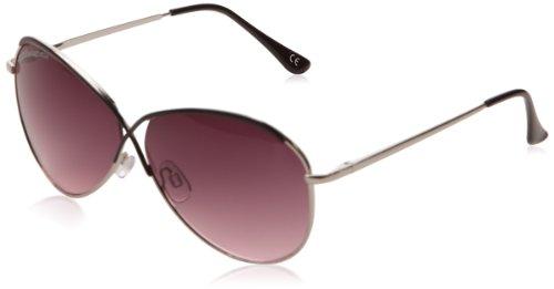 lulu-castagnette-lunettes-de-soleil-uni-femme-argent-argent-et-noir-taille-unique-taille-fabricant-t