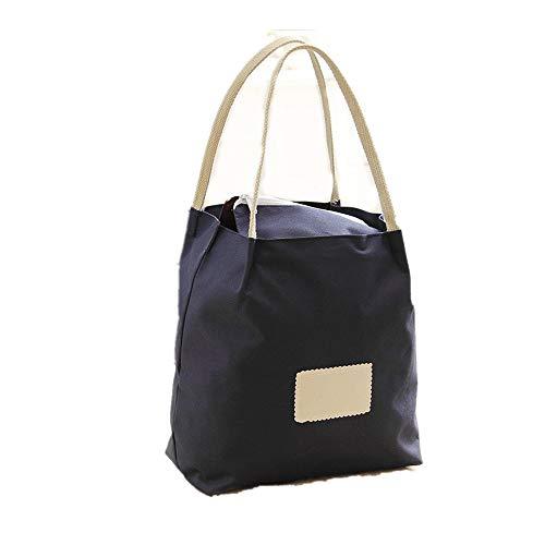 JiuRui Stift & Bleistift Hüllen Lunchpaket Tote Bag Handtasche Lunchpaket Oxford Stripe Large Capacity Lightweight (Color : Blue) -