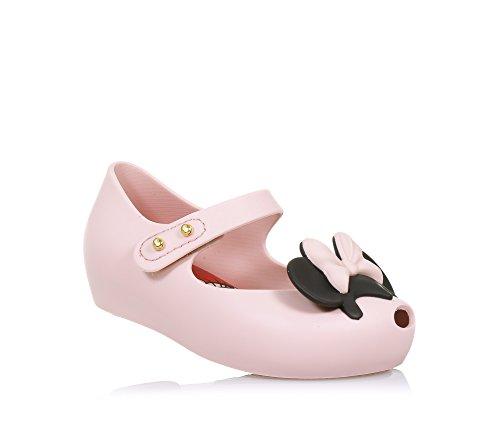 MINI MELISSA - Ballerina rosa chiaro e nera Ultragirl + Disney Twins, made in Brazil, con motivo di Minnie e Topolino, Bambina-19-20