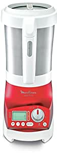 Moulinex LM906110 Blender Chauffant Soup et Co (mixeur, soupes, gaspachos, smoothies, compotes)  Inox Blanc/Rouge 1100W 2L