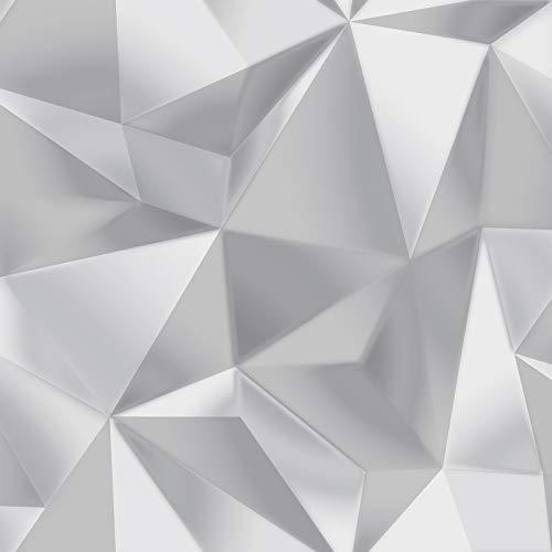Spektrum Geometrische Dreiecke Tapete Grau/Silber Debona 5020 - Subtilen Glanz-finish