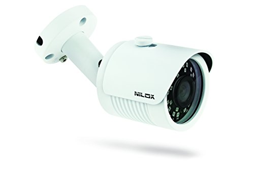 Nilox bullet videocamera ip, 1 mp, outdoor, bianco