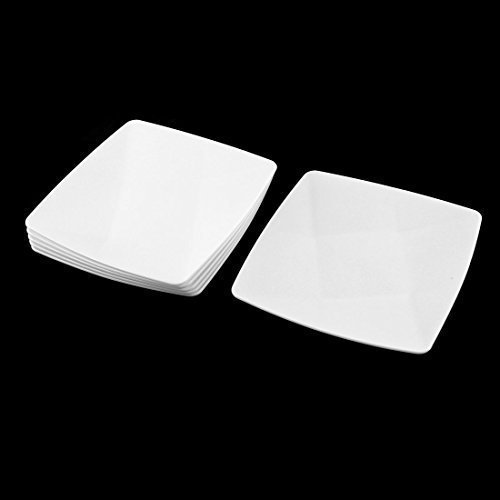 sourcingmap® Ristorante del pranzo di forma quadrata, in plastica, per alimenti, 13 x 13 cm, confezione da 6 pezzi