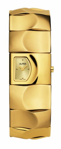 Alfex – 5583 _ 379 – Ladies Watch – Analogue Quartz – Golden Stainless Steel Bracelet