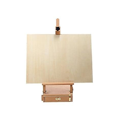 Chevalets Boîte à peinture en bois massif boite de bureau portable chaise boîte à peinture boîte à outils chevalet peinture