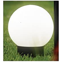 Brema 123138 Esfera de iluminación solar de plástico con estaca y mango extensible
