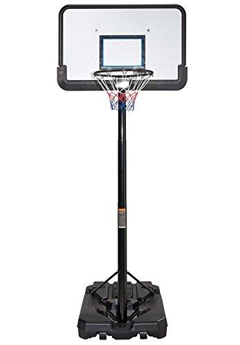 IUNNDS Pro Court höhenverstellbarer, tragbarer Basketballkorb und Ständer-System mit 111,8cm (44 Zoll) Rückwand