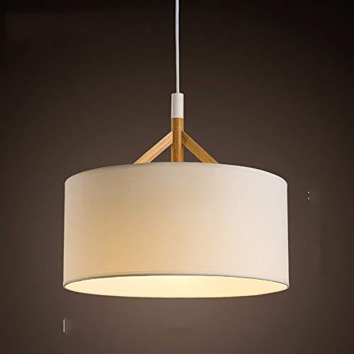 Hai Ying ♪ * Pendelleuchte Kronleuchter Vintage Shabby Moderne Schlafzimmer Bett Restaurant Kreis Warme Tuch Lampenschirm Lampen, Weiß Warmes Licht 44 * 38 cm ♪ -