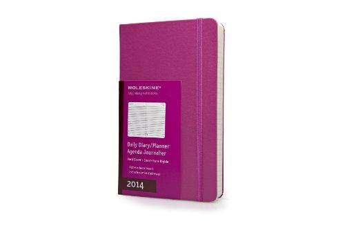 Moleskine Large Hard 2014 Daily Diary - Dark Pink por Moleskine