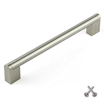 Boss Bar Kitchen Cabinet Door Handle, Cupboard Drawer Bedroom furniture handles, Brushed Steel - inexpensive UK light shop.