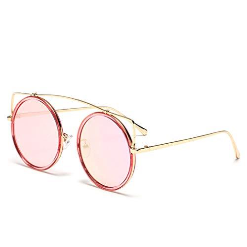 WULE-RYP Polarisierte Sonnenbrille mit UV-Schutz Retro Katzenaugen-Art-runde Form färbte Linse UV-Schutz-Sonnenbrille im Freien, die das Reisen fährt. Superleichtes Rahmen-Fischen, das Golf fährt