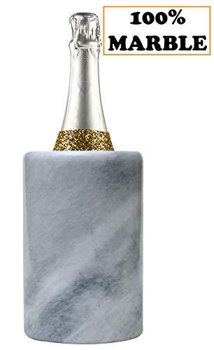 Radicaln Küche Weinkühler 12.5x12.5x16.5 cm White Travel Countertop Marmor Weinkühler für...