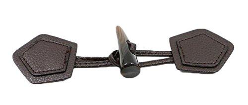 Black Temptation Handgefertigte DIY Handwerk Horn Leder Toggle Buttons 2 Paar -