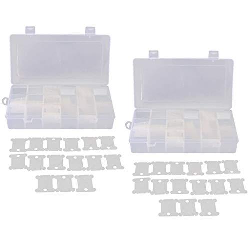 chiwanji Stickerei Kreuzstich Tool 240 Floss Bobbins Und 2pcs Floss Organizer Box -