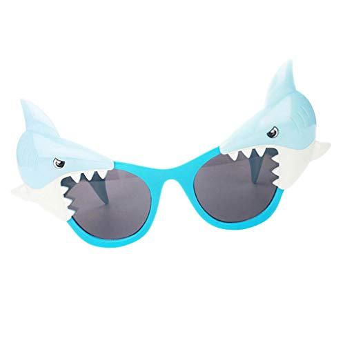 F Fityle Damen Herren Party-Brille Spaß-Brille Dekobrille Karnevalbrille Brille Gläser Sonnenbrille für Kostüm Party Club Tanz Props - Hai