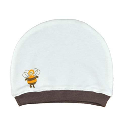 For babies - berretto per neonato - cappello per ragazze e ragazzi - 100% cotone biologico - made in eu (ape)