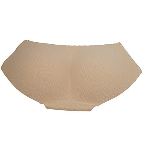 Gepolsterte Slip (Yahee Push-Up Unterhose Höschen Slip Padded Panty unsichtbare Polster Unterwäsche für Damen (M, Beige))