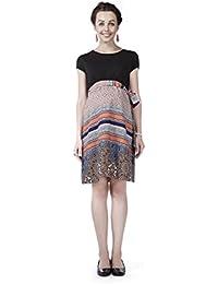 Radiation Safe Coral Print Tie-up Dress