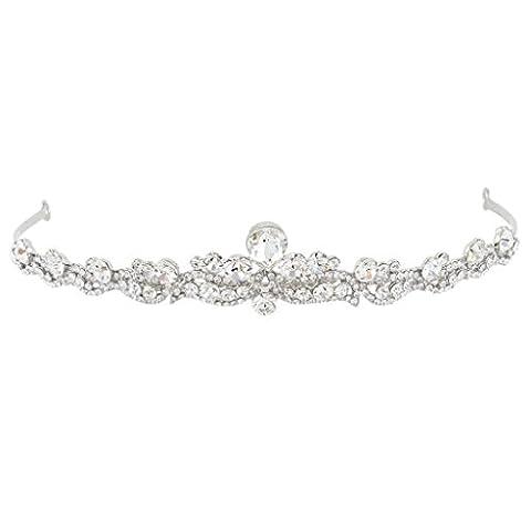 EVER FAITH® österreichischen Kristall elegant Braut Vintage Retrostil Haarband Diadem