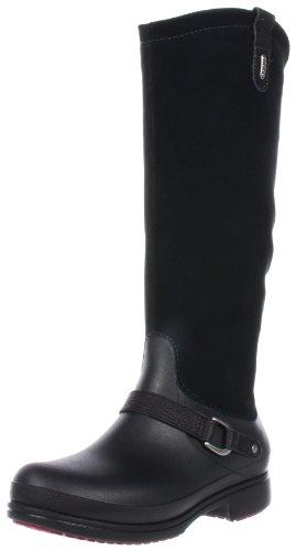 Crocs  Equestrian Suede Tall Boot,  Damen Stiefel , Schwarz - Nero (Schwarz (Noir (Black/Black))) - Größe: (Schwarz Boots Tall Herren)
