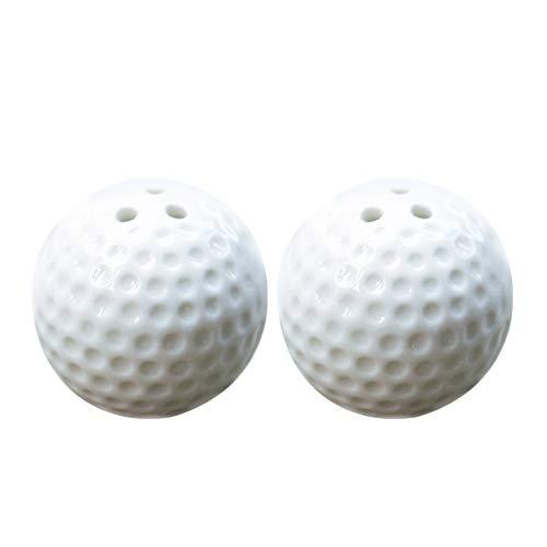 B Blesiya 2er Salzstreuer Gewürzdosen mit Golfball Form, Geschenke für Freunde Mutter
