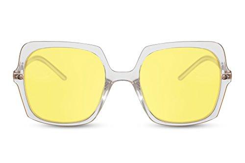 Cheapass Sonnenbrille Groß Oversized XXL Designer-Brille Getönt-e Linsen Fashion-Accessoire Metall Damen Frauen
