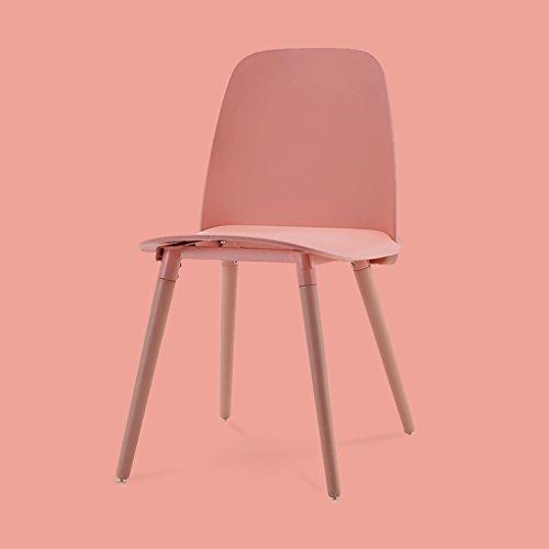 PLL Kreativer Stuhl-moderner zufälliger Mode-Esszimmer-Stuhl-Plastik-Rückenlehnen-Stuhl-Studien-Stuhl (Color : Pink)