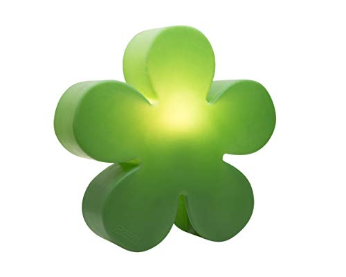 8 seasons design | Blumenlampe Deko Blume beleuchtet Shining Flower (E27, Ø 40cm, für Innen & Außen, Terrassenleuchte, Gartendekoleuchte, Kinderleuchte) grün
