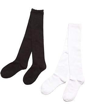 OULII 2 accoppiamenti caldi dei bambini svegli dei calzini sopra i calzini del ginocchio Formato della calza della...
