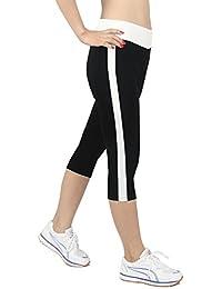 iLoveSIA Damen Tight Capri Workout-Leggings