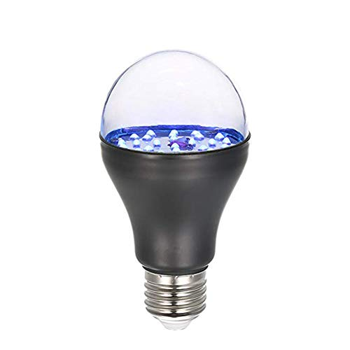 7W 25 LED 365nm Bombilla de luz UV 100V-240V A19 Luz negra ultravioleta con base de lámpara...