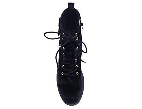 MaxMuxun Chaussures Femme Bottines Hiver EU 36-41 Noir