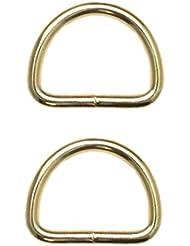 Medio Anillo D de anillo 50mm Oro 2pieza (0122)