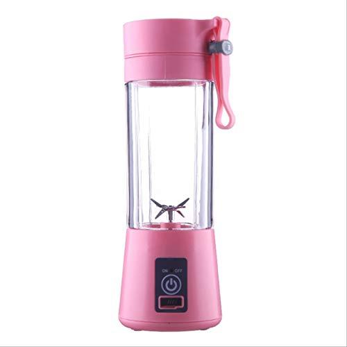 Prima05Sally 2/4 Klingen Mini USB wiederaufladbare tragbare elektrische Fruchtsaftpresse Smoothie Maker Mixer Maschine Sport Flasche Entsaften Cup (Roter Smoothie Mixer)