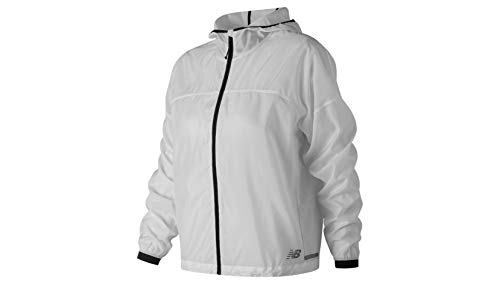 New Balance Women's Light Packable Jacket, North Sea, Large
