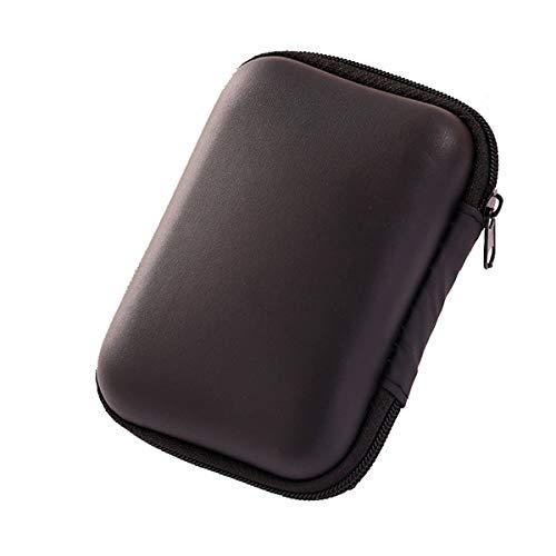 Winice Tragbarer Tragekoffer für Kopfhörer, Small Protective Storage Holder Box-Tasche für Kopfhörer, Ohrhörer, USB-Sticks, Kabel - Schwarz (Ipod Shuffle-nano-fall)