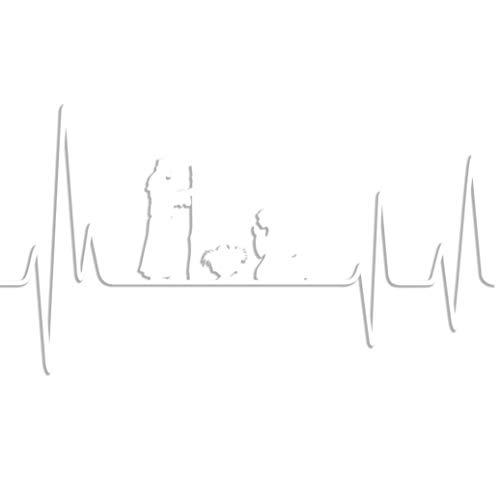 Designs Krippe (Hit Oder Miss Designs Herzschlag Krippe-15,2cm weiß Indoor Outdoor Aufkleber)