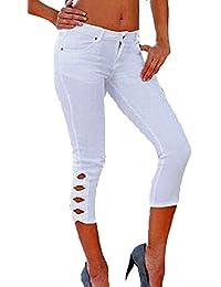 knielange Damenhose Stretch  Hose Caprihose Sommerhose Leggings Röhre Gr.XS //S