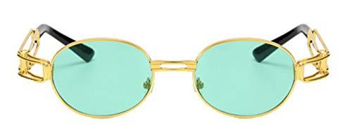 Sommer Gerahmt (Tianba Sonnenbrillen Unisex Anti-UV Brille Vintage Rund Metallrahmen Brillen Large-Gerahmte Sommer Ideal Radbrille)