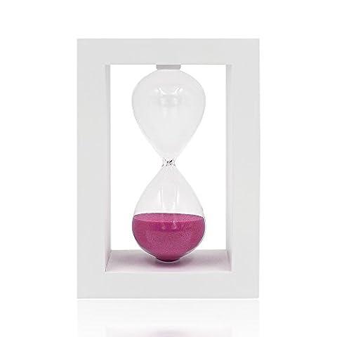 30Minuten Sanduhr Sanduhr Sand Uhr Timer Desktop-Uhr für Home Decor Kochen Pink sand