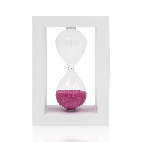 30Minuten Sanduhr Sanduhr Sand Uhr Timer Desktop-Uhr für Home Decor Kochen Pink sand (Decor Glas Cabinet Curio Home)