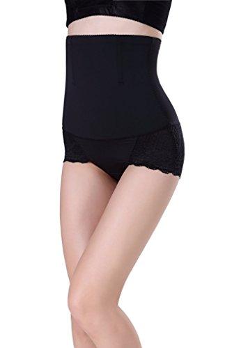 Smile YKK Body Miederslip Unterwäsche Figurenformend Miederpants für Damen Schwarz
