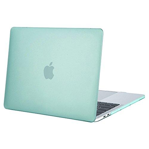 MOSISO MacBook Pro 15 Hülle 2018&2017&2016 Freisetzung A1990/A1707 - Ultra Slim Hochwertige Plastik Hartschale Schutzhülle MacBook Pro 15 Zoll mit Touch Bar und Touch ID, Mint Grün