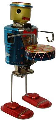 CAPRILO Juguete Decorativo de Hojalata Robot Reciclado India...
