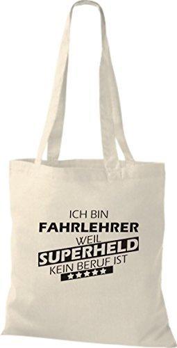 Tote Bag Shirtstown Sono Un Istruttore Di Guida Perché Il Supereroe Non È Una Professione Per Natura